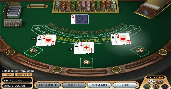 Chơi blackjack trực tuyến